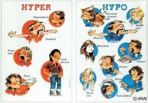herken de symptomen van hyper en hypo